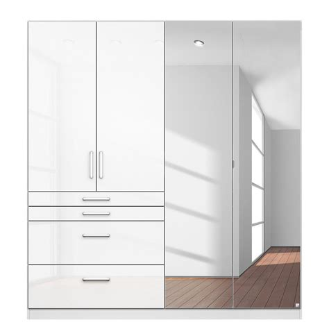 White Gloss Mirrored Wardrobes by High Gloss White Wardrobes