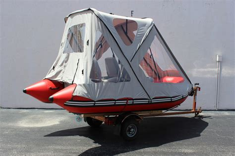 inflatable fishing boat with canopy tent boat goethe 330cm inflatable camaran boat tent
