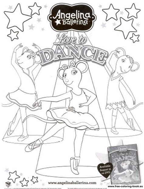 coloring pages of angelina ballerina coloring pages angelina ballerina printable coloring