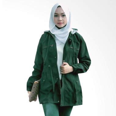 Jaket Parka Canvas Hijau jual fashion jaket parka wanita topi lepas hijau army harga kualitas terjamin