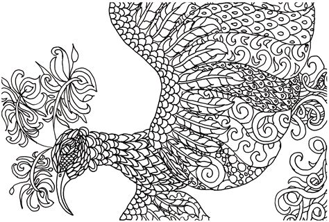 detailed coloring pages pdf free adult coloring book page fantasy bird jeanine a