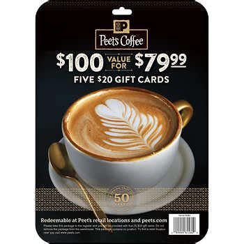 Peets Coffee Gift Card - gift cards