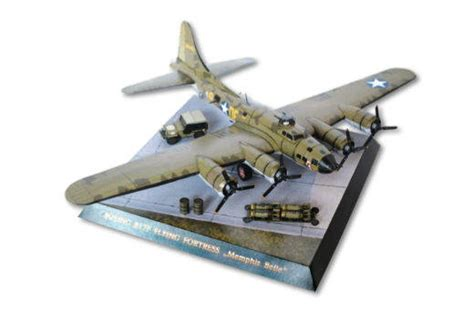 Papercraft Aircraft - wwii boeing b 17f flying fortress quot quot bomber