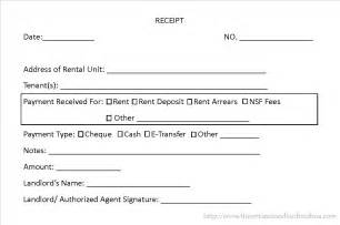 landlord rent receipt template doc 684771 rent receipt format word bizdoska