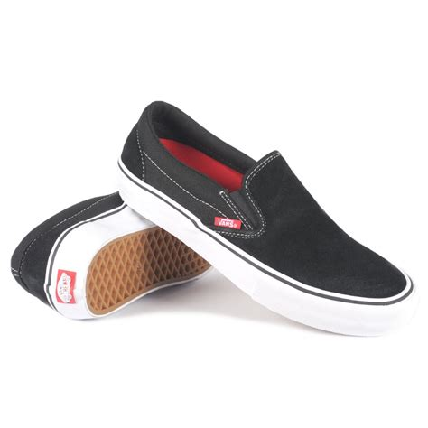 Vans Slop For vans slip on pro black white gum s skate shoes