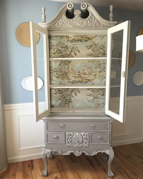 french country toile hutch general finishes  design
