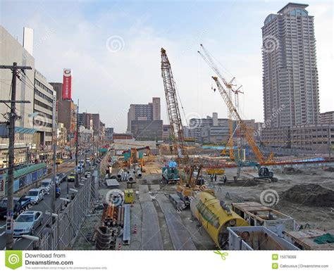 japanese construction editorial stock photo image