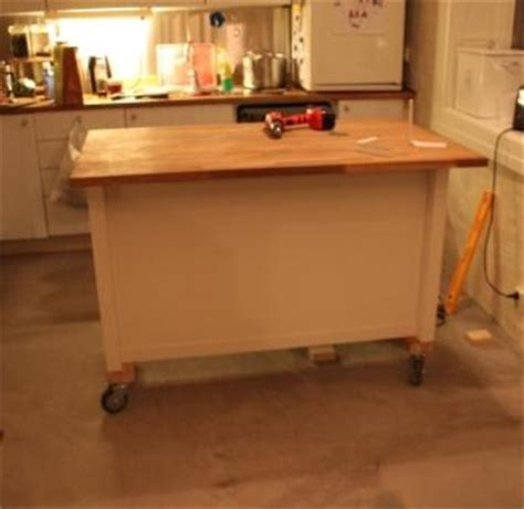 kitchen island on wheels ikea hackers