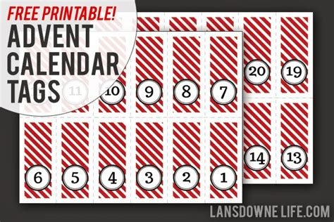 last minute diy advent calendar free printable number