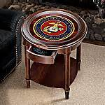 usmc accent table marine corps home decor