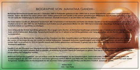 biography of mahatma gandhi in english language german language specialist august 2010