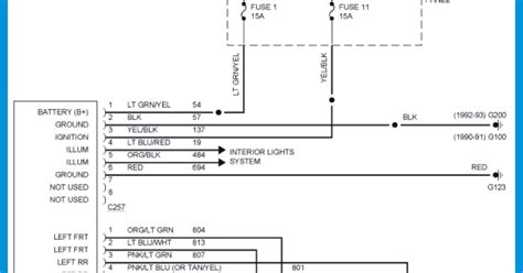 1995 ford ranger radio wiring diagram 37 wiring diagram