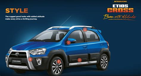 toyota website india toyota launches website for etios cross launch in may