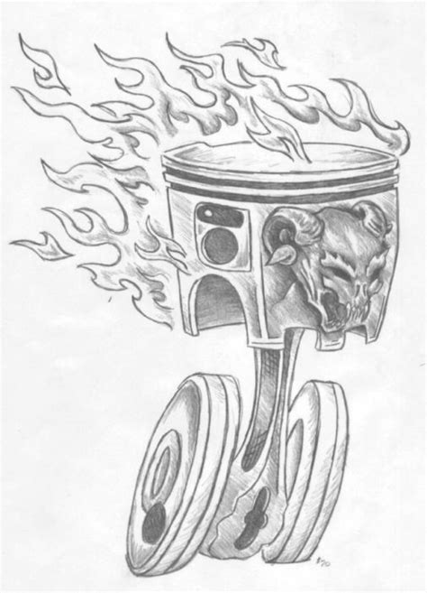 piston and wrench tattoo designs piston and wrench designs
