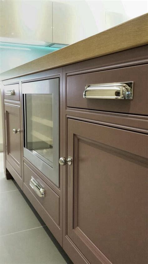 kitchen cabinet hardware australia armac martin queslett pull handle on display at jones britain showroom handles in situ