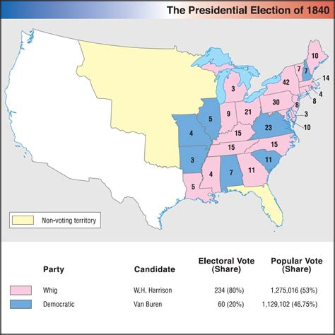 map of the united states in 1840 1840 elections in north america