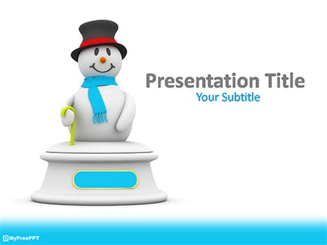 free snowman powerpoint template download free