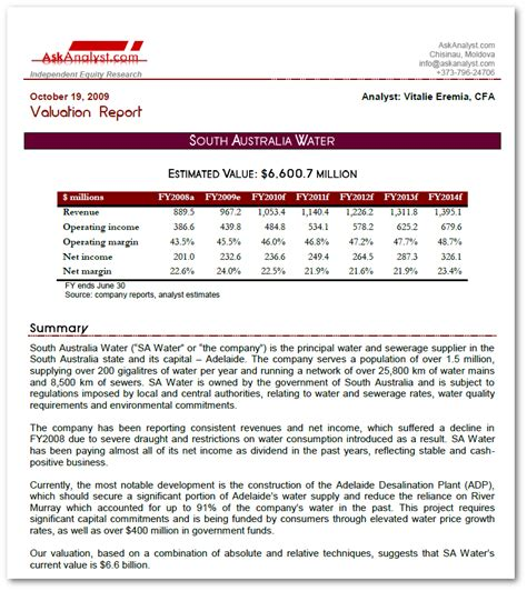 stock analyst report template askanalyst financial analysis outsourcing services