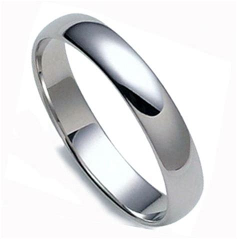 save  mens domed solid platinum  mm wedding band