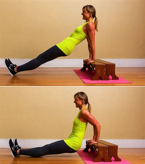 dips on bench how to do triceps dips popsugar fitness