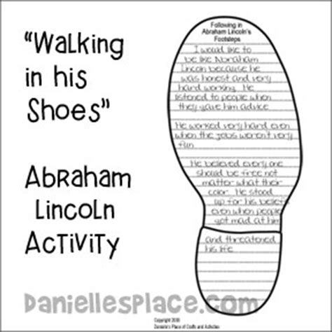 fill lincoln s shoes at abraham lincoln crafts and learning activities for children