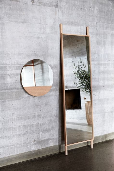 home decorative accessories uk wall round hanging mirror w oak 50 cm danish design by hubsch