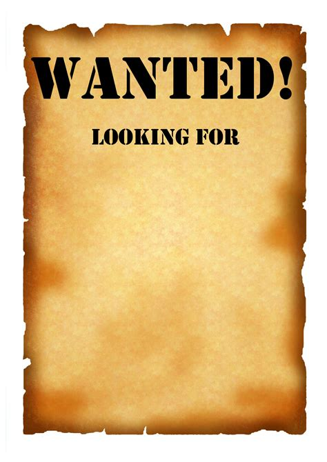 Wanted Wallpaper Wallpapersafari Free Wanted Poster Template