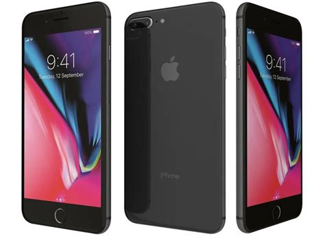 3d apple iphone 8 plus space gray cgtrader