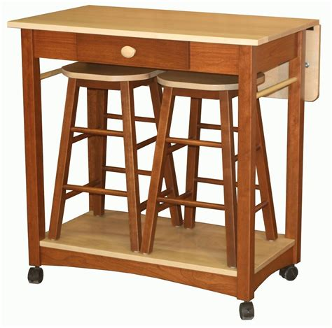 kitchen island table with bar stools mobile kitchen islands snack bar breakfast stools wood ebay