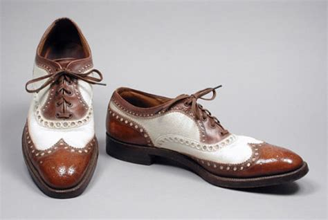 handmade mens oxford brogues brown and white color dress