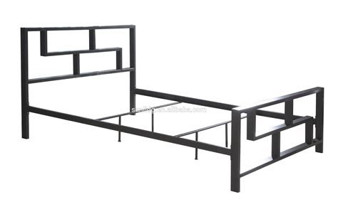 Tough Metal Bed Frame Finished In Silver Minimalist Design Steel Bed Frame Designs