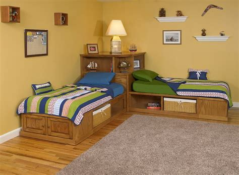 corner beds with storage corner cubby bed available in maple or oak twin size