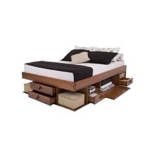 lit 140 x 190 bali avec rangements