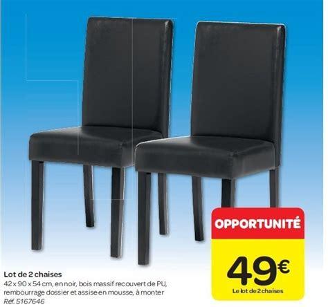 carrefour chaise carrefour promotion lot de 2 chaises produit maison