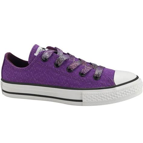 converse purple all oxford lace canvas shoes