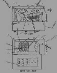 1286861 wiring fuse box wheel type skidder caterpillar 525 525 wheel skidder 1dn00001