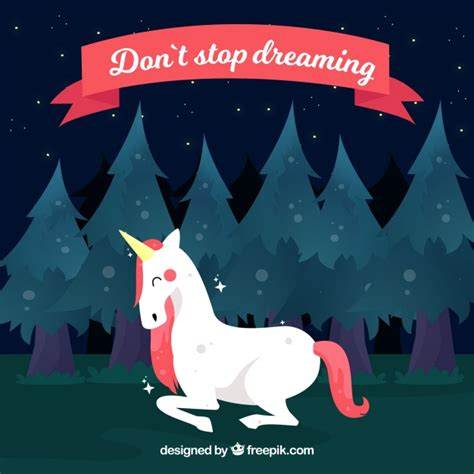 imagenes de unicornios con frases bonitas fondo de unicornio en el bosque con frase quot no pares de