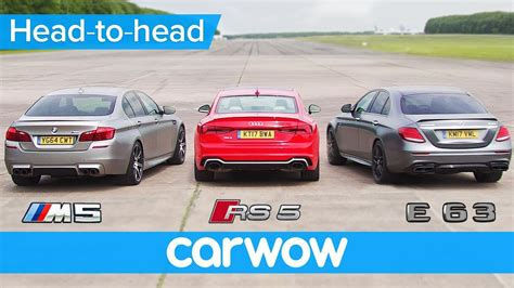 Rs5 Vs M5 by Mercedes Amg E63 S V Bmw M5 V Audi Rs 5 Drag Rolling