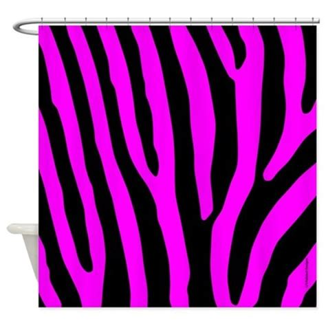 pink and black zebra curtains pink and black zebra stripes shower curtain by rainbowhot