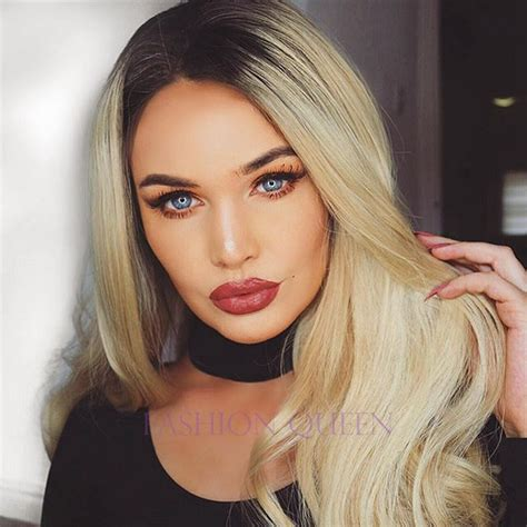 night blonde lush wigs black blonde roots ombre dip black rooted blonde bobs dark roots image 3788733 by