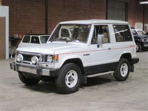 Find Used 1986 Mitsubishi Pajero 2 3 Turbo Diesel Low