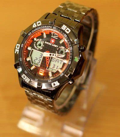 Jam Tangan Swiss Army 1503 Doubletime Black Grey jam tangan sa all tipe doubletime free batre cadangan
