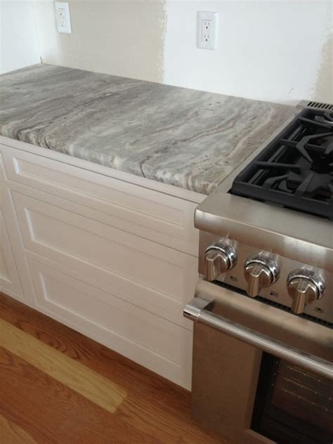 Terra Bianca Antiqued quartzite   Beach Style   Kitchen