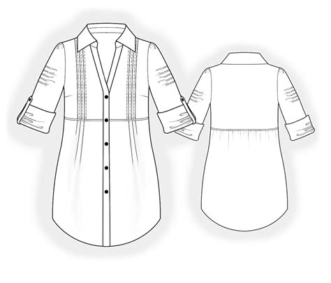 drawing blouse pattern tunic sewing pattern 4058 made to measure sewing