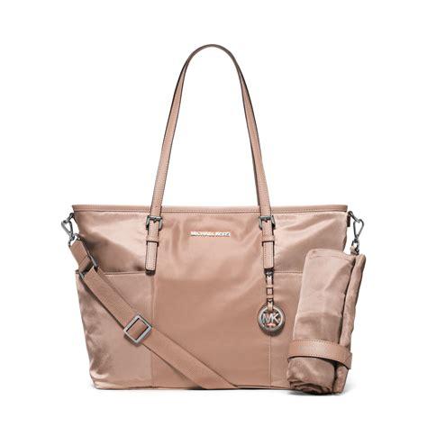 New Bag Mk Set michael kors jet set large bag in pink lyst
