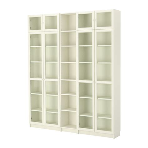 Billy Oxberg Bookcase White Ikea Narrow Billy Bookcase
