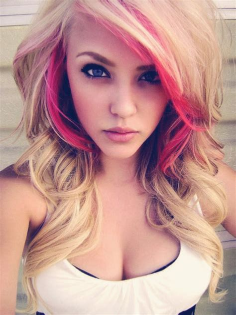 blondehairstyles with redpink in pinky hair 32 different styles pink highlights