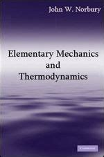 Mechanics And Thermodynamics elementary mechanics and thermodynamics prof w