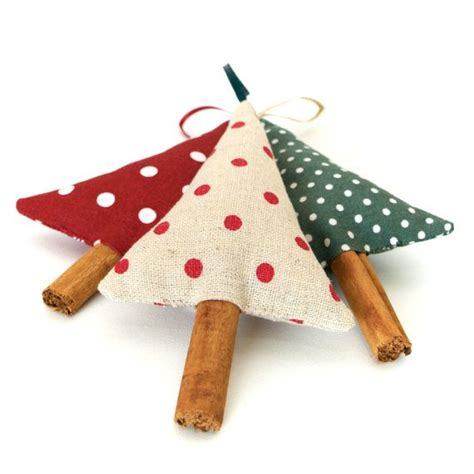 country christmas tree ornaments rustic polka dot cinnamon
