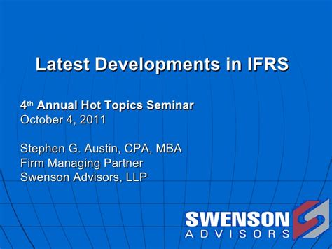 Mba In Accounting Subjects by Ifrs Developments